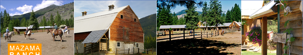 Horseback riding at the Mazama Ranch House
